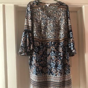 Beautiful print dress, worn only once.
